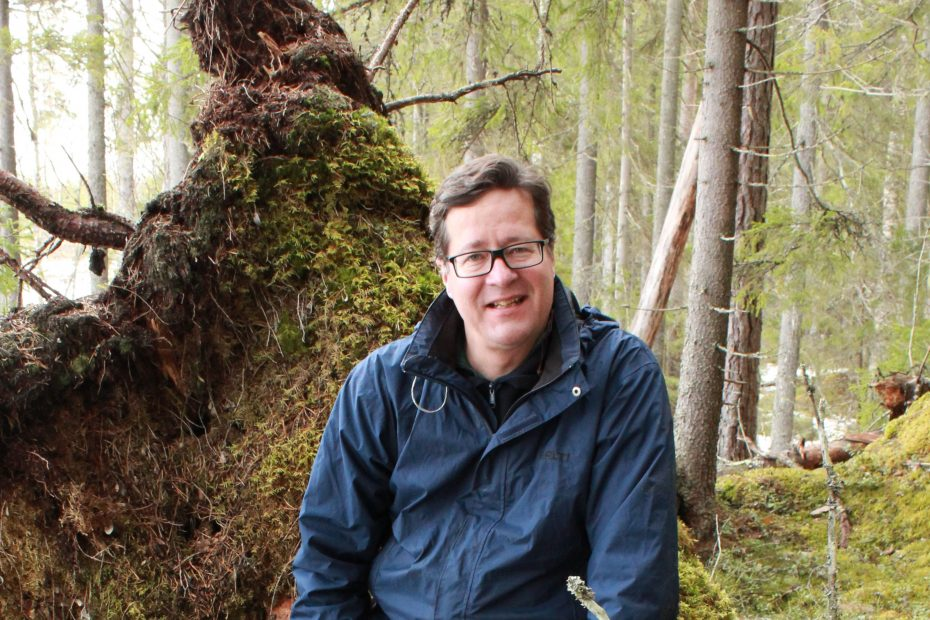 Unite flagship director Jyrki Kangas in the forest